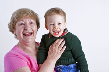 Grandmother with grandchild