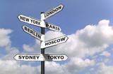 Fototapety Business Capitals signpost
