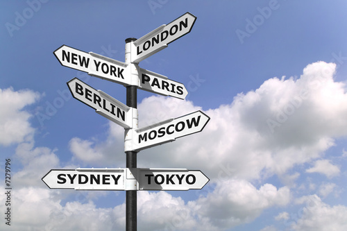 Poster Business Capitals signpost