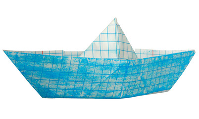 Small children's Ship by paper