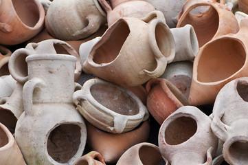 Broken amphoras