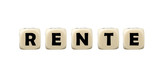 German Word Rente - pension on dice