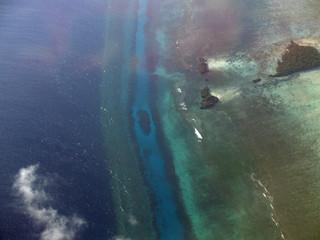 Vista aerea de la isla de pemba en Zanzibar.