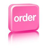 Order Sign - pink poster