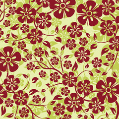 Decorative floral pattern, vector illustration