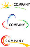 Corporate logo templates poster