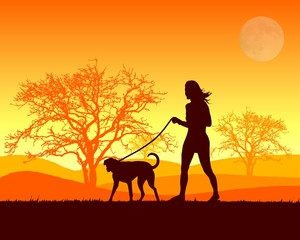 ragazza col cane