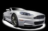 Silver sports car-