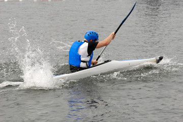 Sport - Man in kayak