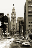 Broad street and Philadelphia City Hall  in Center City - Fine Art prints
