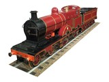 A Model of a Red Steam Engine. poster