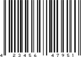 Illustrated dummy bar code in black and white poster