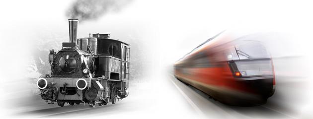 Züge - damals und heute