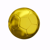 isolated golden ball