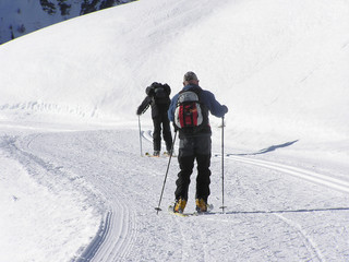 1577 - Ski de fond dans les Alpes du sud (St Véran)