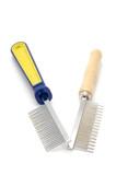 hairbrush for animal on white poster