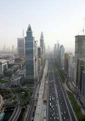 Above Sheikh Zayed Road
