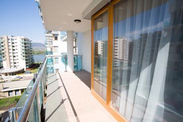 modern flats balcony, outdoor view