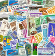 collection of vintage transportation stamps