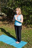 Mature Woman Yoga - Breathing poster