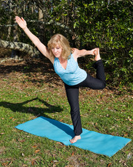 Mature Woman Pilates - One Leg