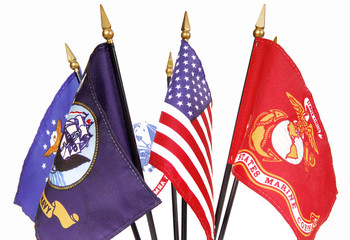 American and Military Flags