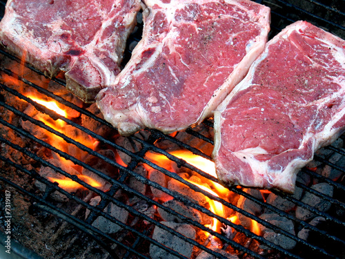 Grilling a T-Bone Steak