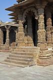 Entrance to Ancient Hindu Temple at Modhera, India poster