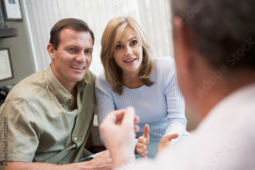 Couple in consultation at IVF clinic