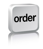 Order Sign - silver poster
