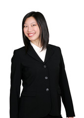 asian business woman smiling