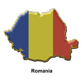 Romania metal pin badge poster