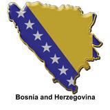 Bosnia and Herzegovina metal pin badge poster