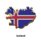 Iceland metal pin badge poster
