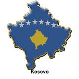 Kosovo metal pin badge poster