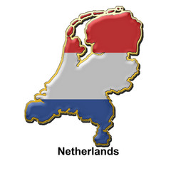 Netherlands metal pin badge