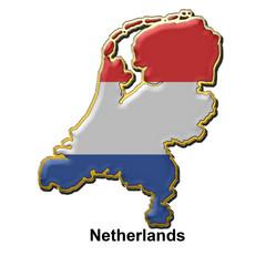 Netherlands metal pin badge