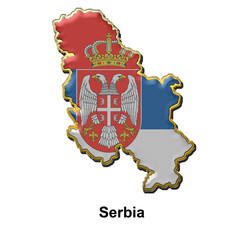 Serbia metal pin badge