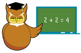 Wise owl teaching poster