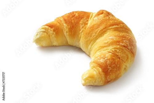Foto op Canvas Brood Croissant