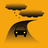 car caution poster