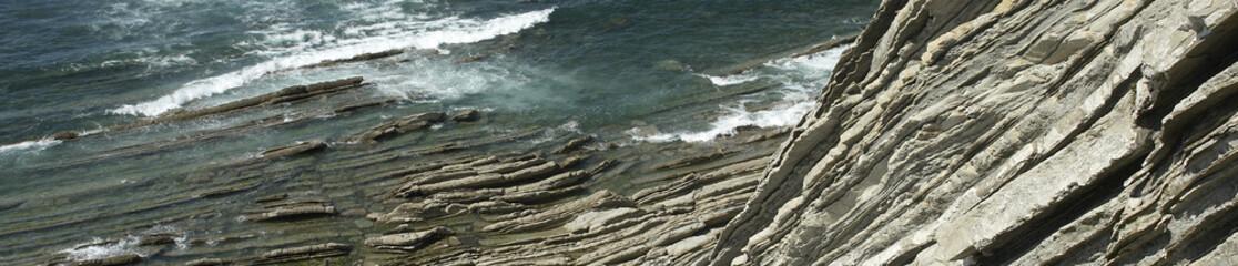 La falaise flysch calcaire de Socoa