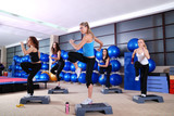 girls stepping in a fitness center - 7333923