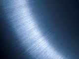 Futuristic brushed blue aluminum surface poster