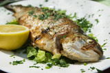 Fototapety Grilled trout on plate