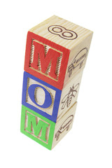 Mom Alphabet Blocks