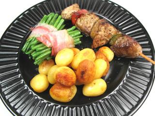 barbequed dinner