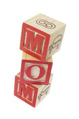 Mom Alphabet Blocks