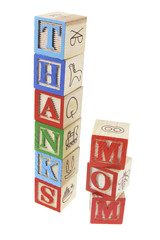 Thanks Mom Alphabet Blocks
