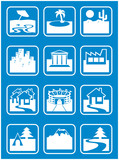 Tourism Icons poster